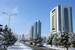 Ашхабад зимой, Туркменистан
