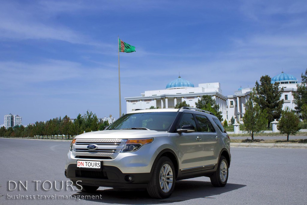 Ford Explorer, DN Tours business travel agency, rent a car Ashgabat Turkmenistan