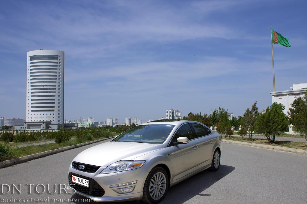 Ford Mondeo, DN Tours business travel agency, rent a car Ashgabat Turkmenistan