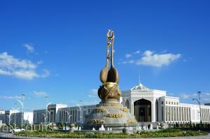 Монумент Дутар, Ашхабад Туркменистан