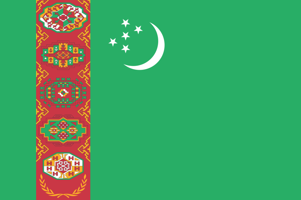 Национальный флаг Туркменистана