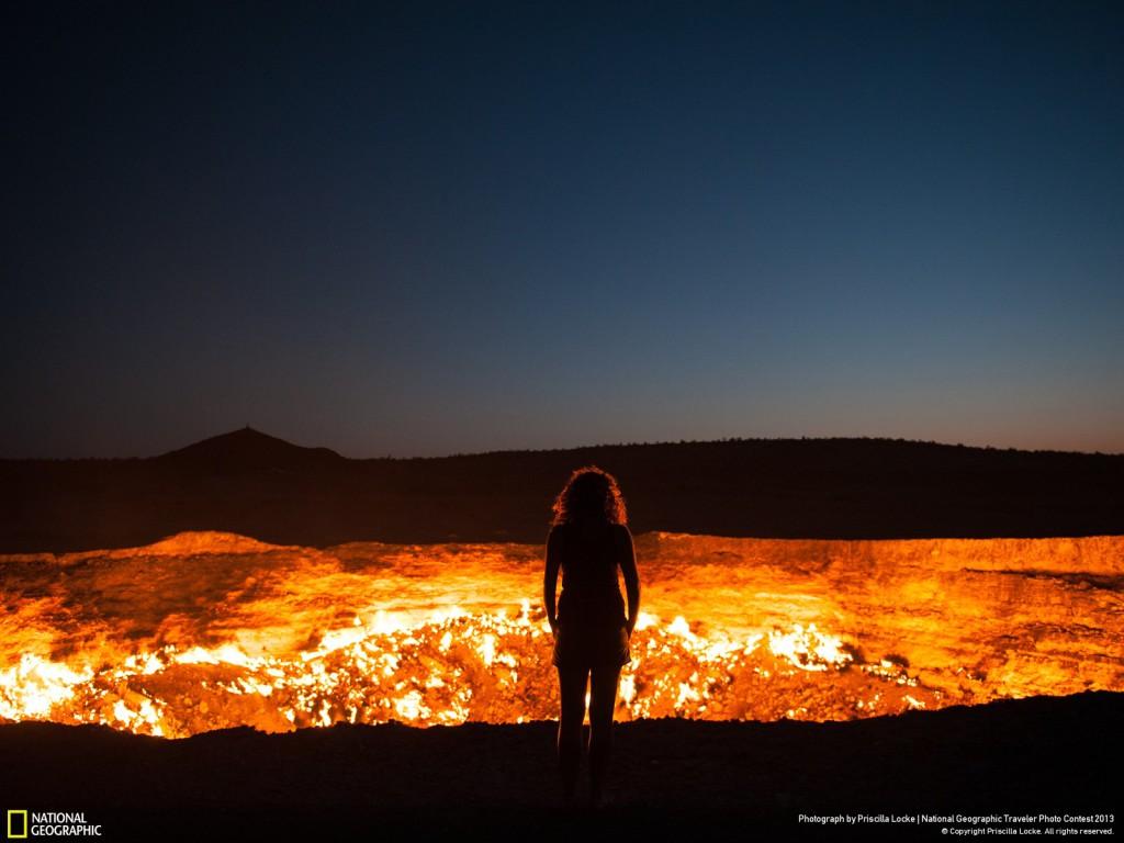 Ворота в Ад, Туркменистан, фото National Geographic