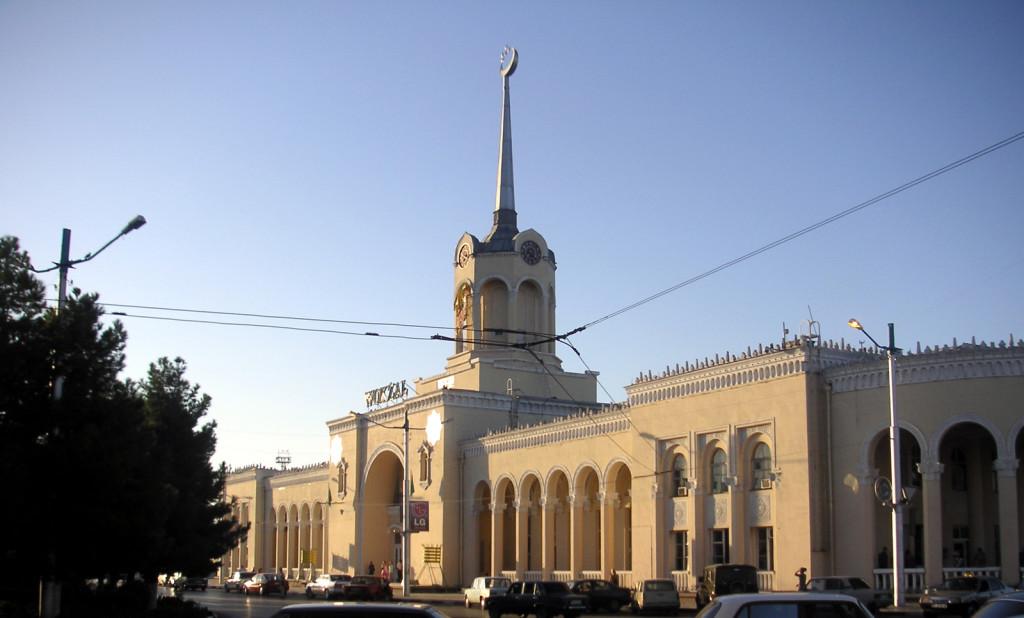 Железнодорожный вокзал, Ашхабад, Туркменистан (1)