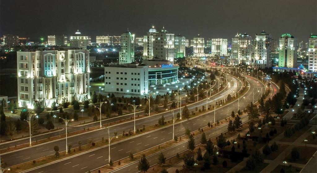 Ашхабад панорама ночного города