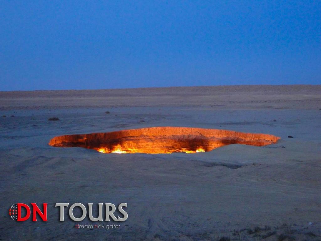 Дарваза Врата Ада в Туркменистане (2)