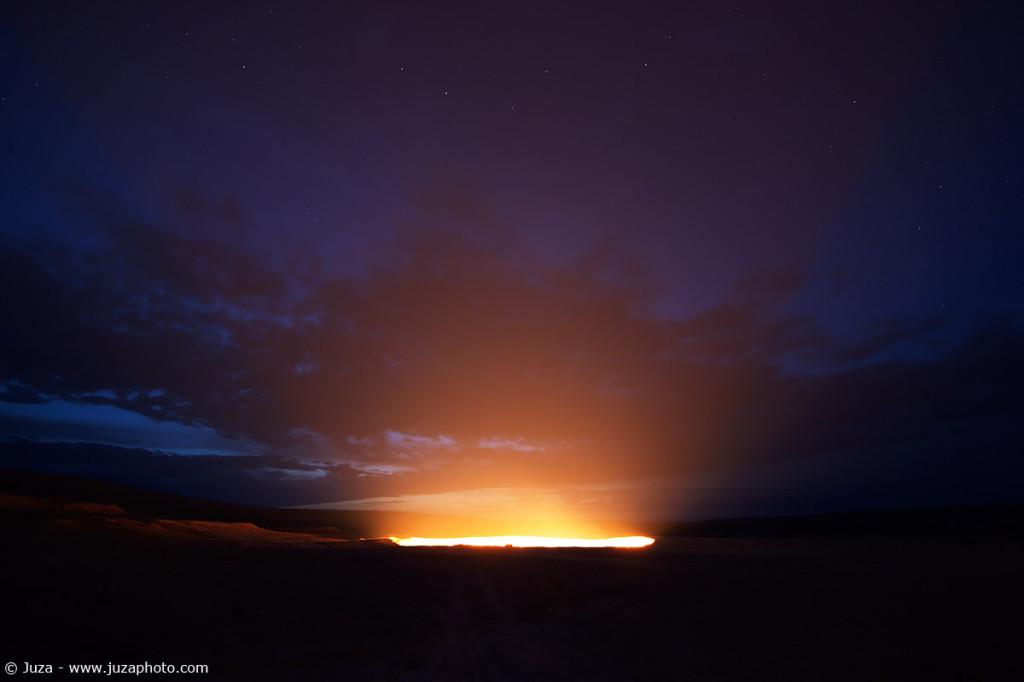 панорама Врата в Ад, Дарваза, ночь