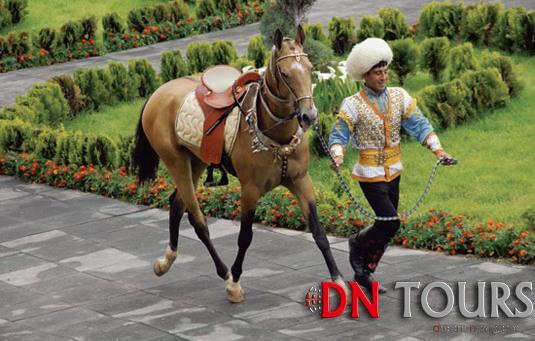 Порода лошадей Ахалтеке Туркменистан