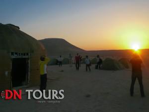 Утро в Дарвазе у Врат Ада, Туркменистан