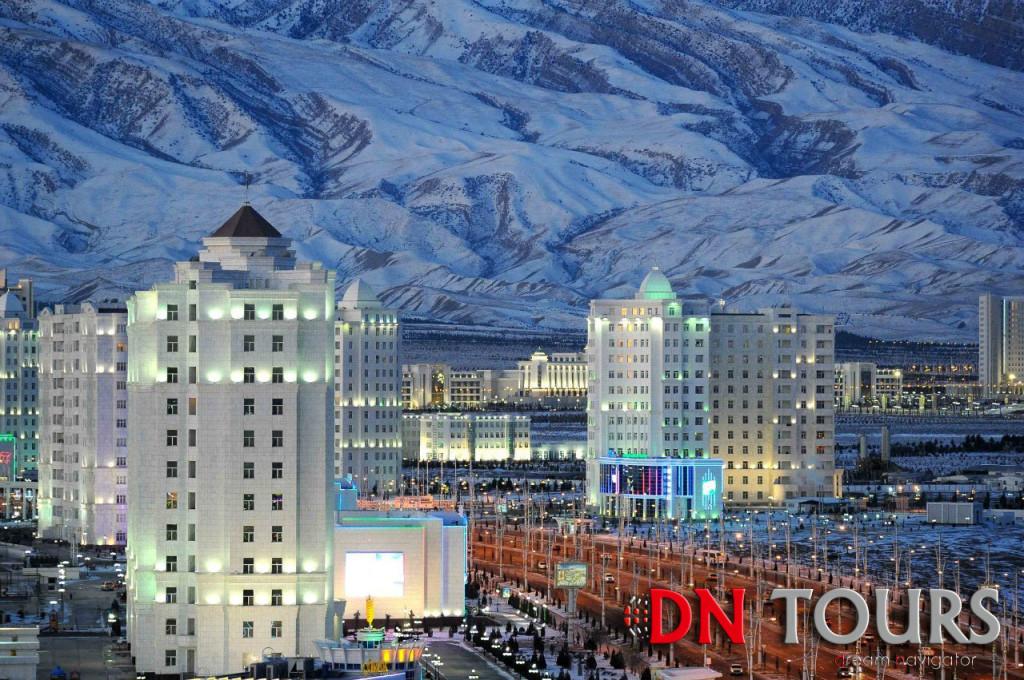 Ашхабад зимой панорама города