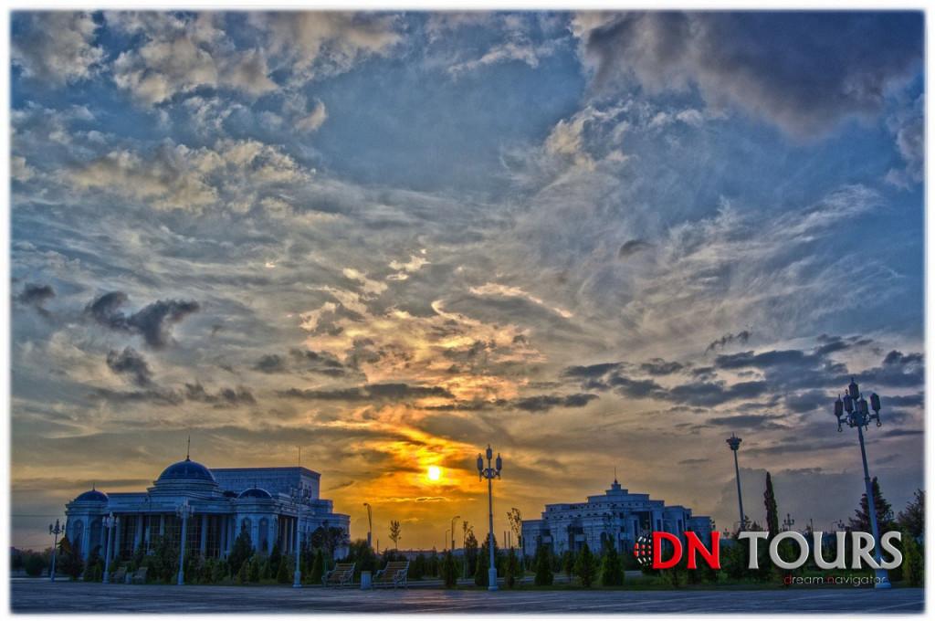 закат солнца Туркменистан