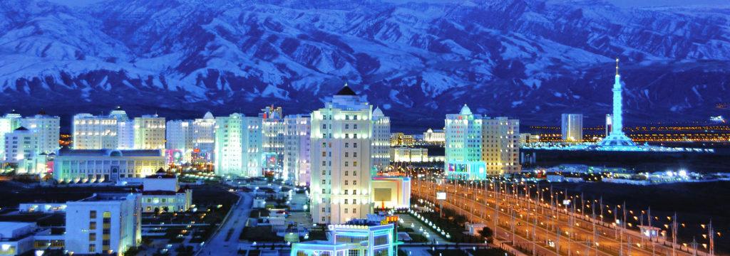 панорама Ашхабада зима