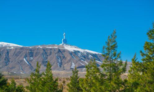 Панорама гор и телевизионная башня Ашхабад