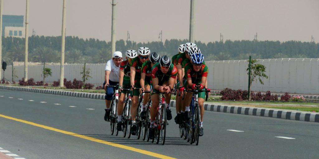 Велогонщики из Ашхабада в Дубай
