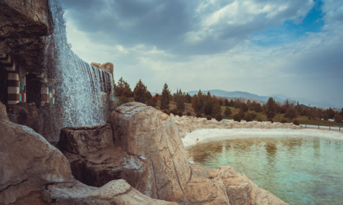 Зоопарк Ашхабада водопад
