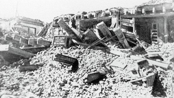 последствия землетрясения в Ашхабаде