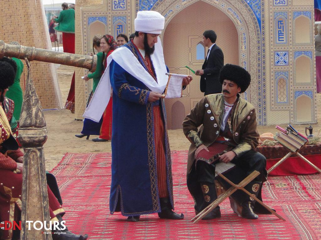 Театральная постановка на празднике Новруз