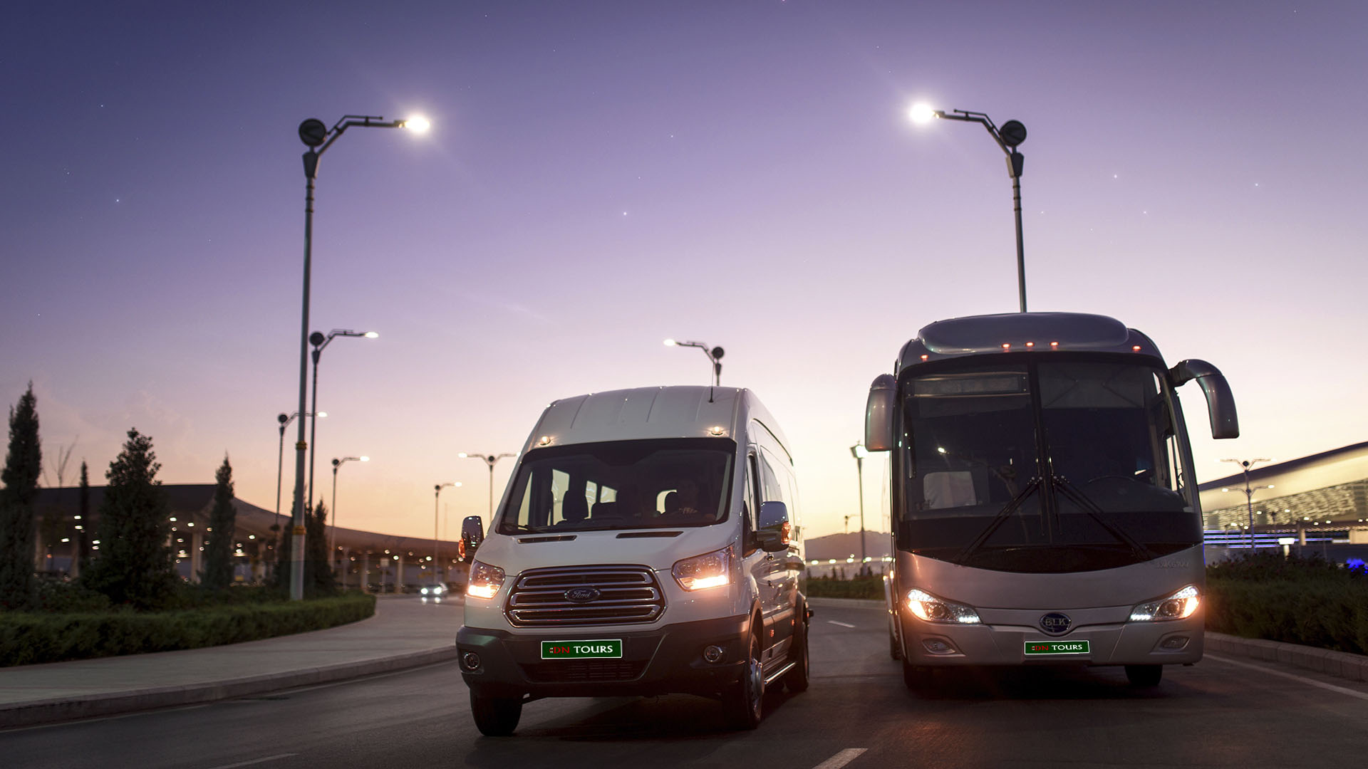 Bus, DN Tours business travel agency, rent a car Ashgabat Turkmenistan