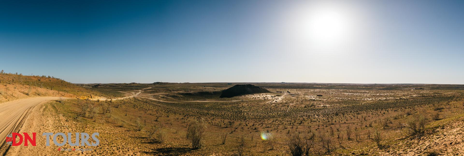 Дарваза газовый кратер Туркменистан Врата в Ад