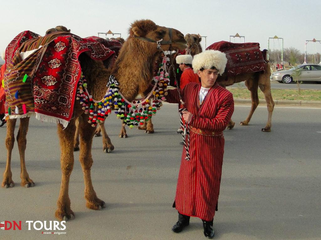 мужчина и верблюд